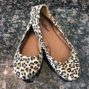 Lucky Brand Women's Cheetah Print Ballet Flats